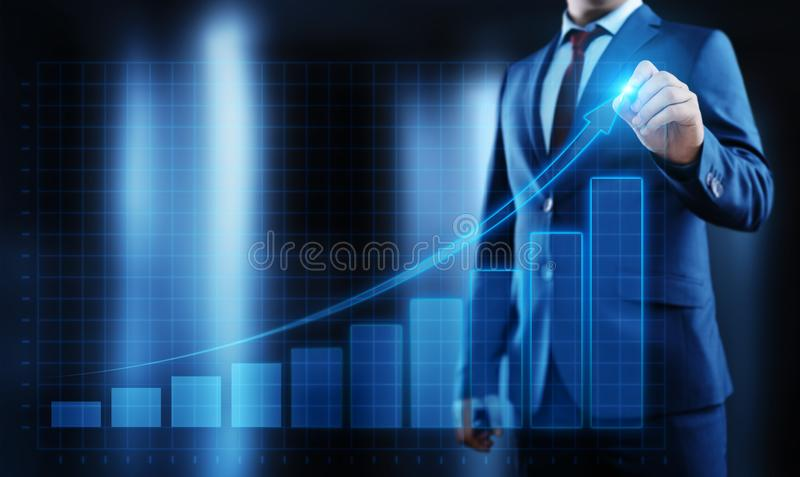 Financial Graph. Stock Market chart. Forex Investment Business Internet Technology concept.  stock image