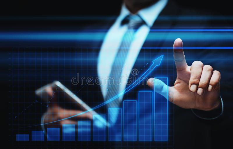 Financial Graph. Stock Market chart. Forex Investment Business Internet Technology concept stock photos
