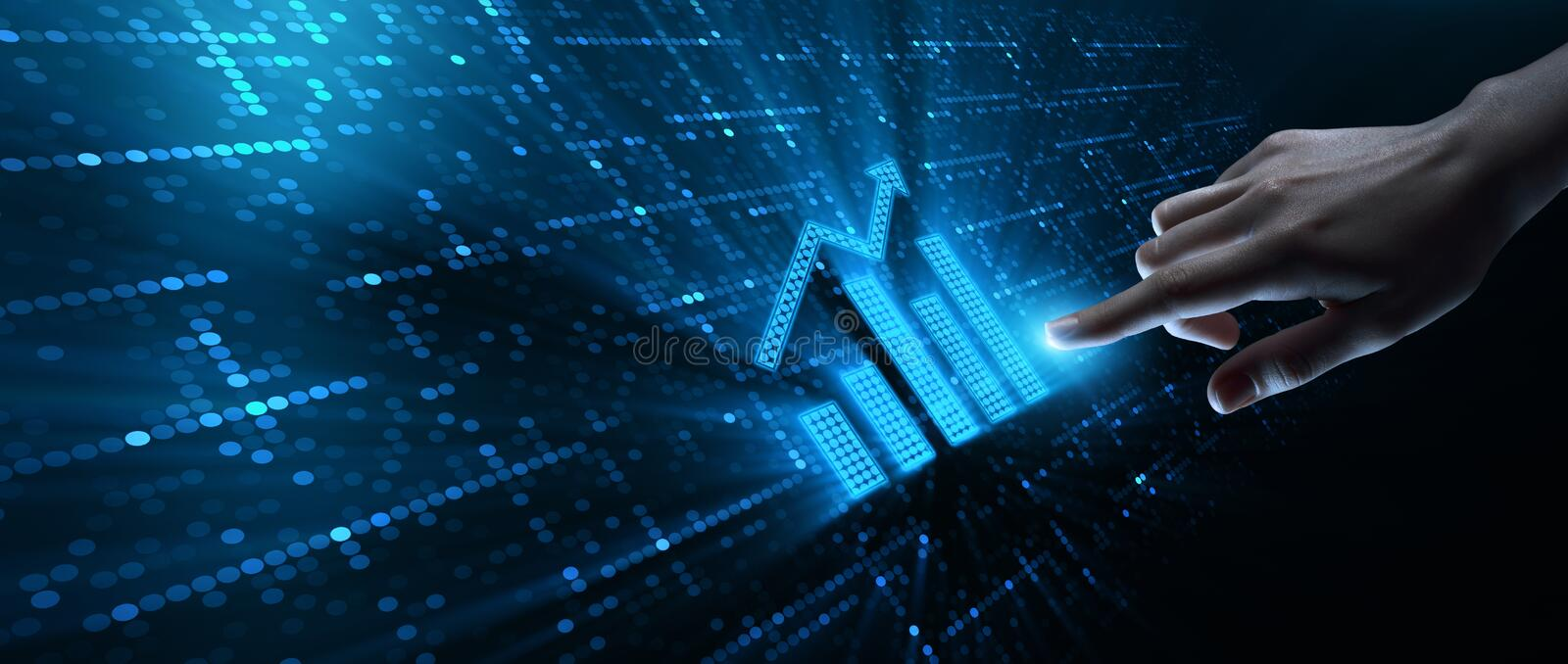 Financial Graph Stock Market Chart Investment Concept.  royalty free stock photos