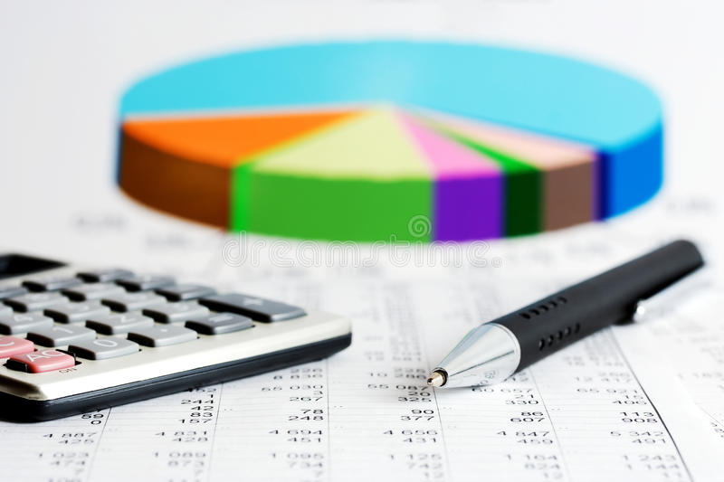 Financial accounting stock market graphs charts royalty free stock images