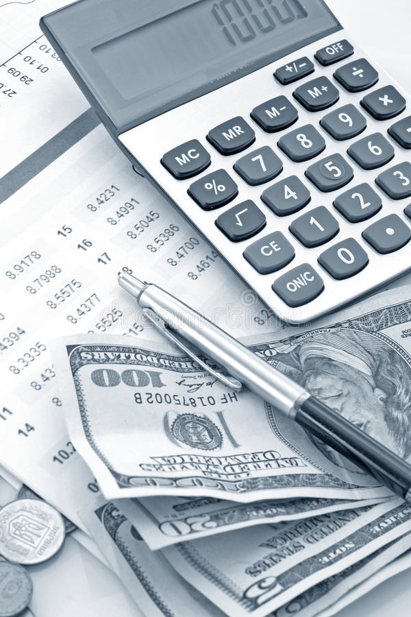 Financial growth. Calculation of financial growth and investment royalty free stock photos