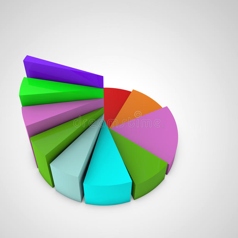 Financial growth. Pie chart stairs stock illustration