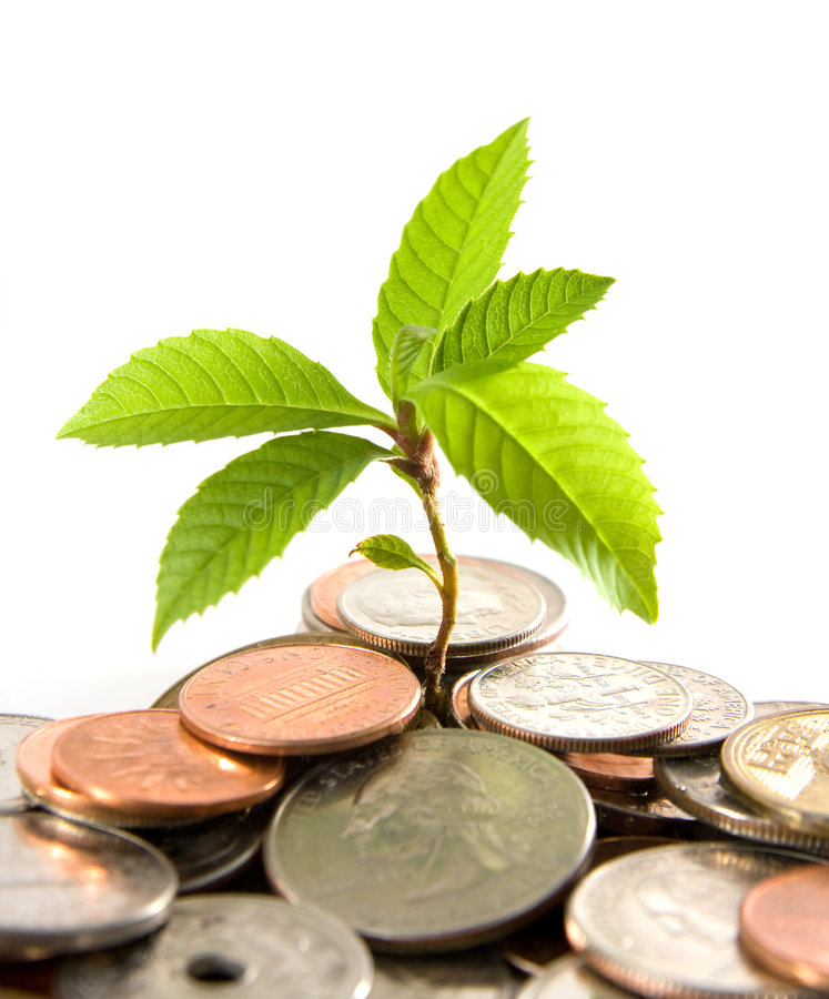 Financial Growth royalty free stock photos