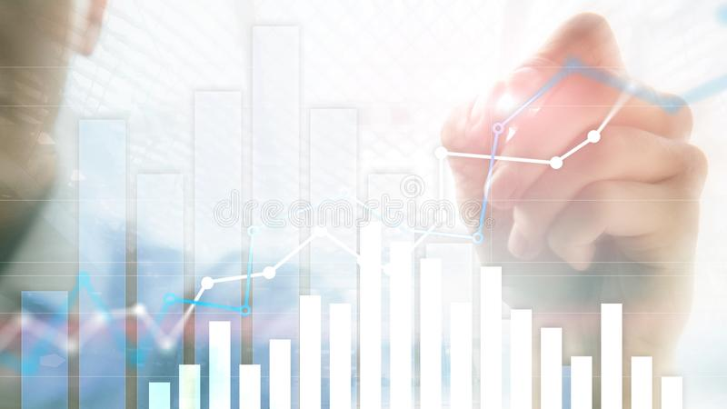 Financial growth graph. Sales increase, marketing strategy concept.  stock photo