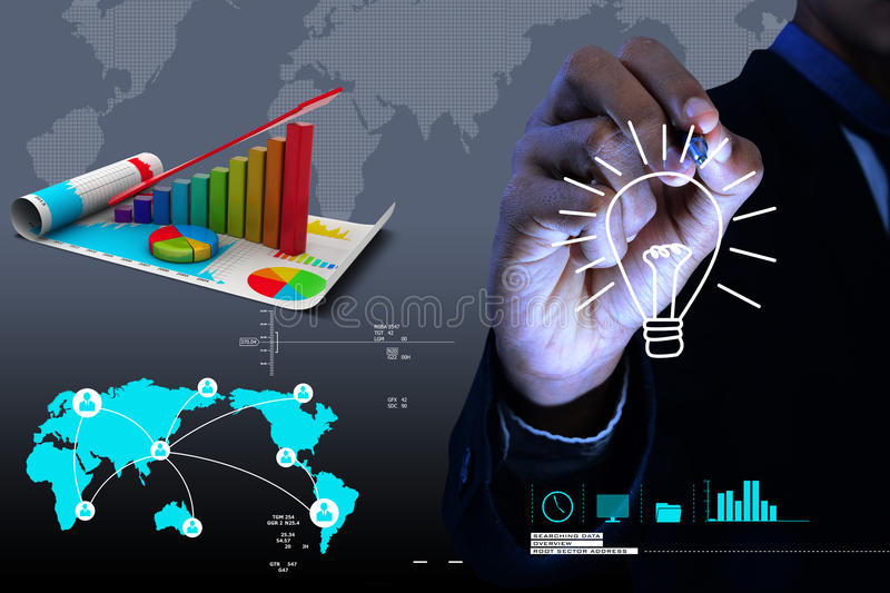 Financial growth graph. In attractive background stock photos