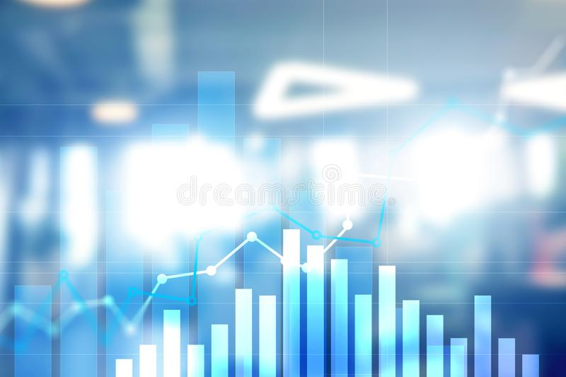 Financial growth graph.Sales increase, marketing strategy concept stock images