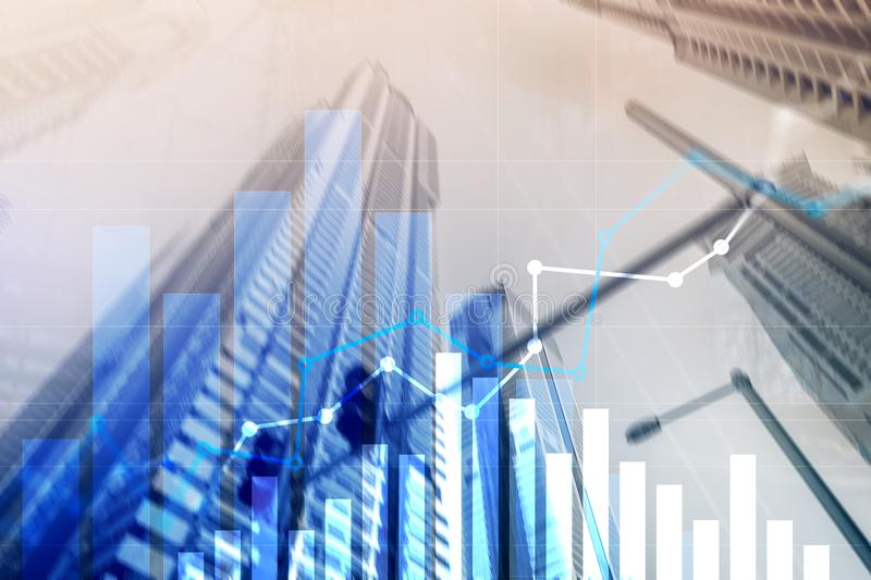 Financial growth graph.Sales increase, marketing strategy concept.  royalty free stock photography