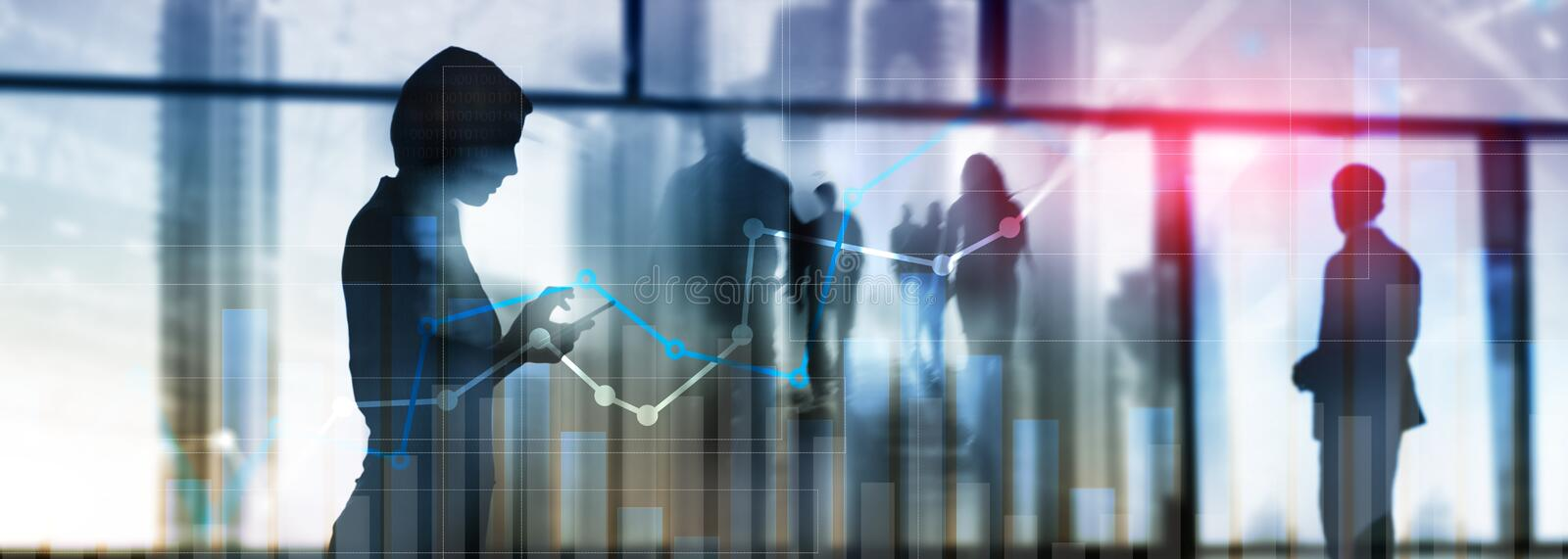 Financial growth graph. Sales increase, marketing strategy concept.  stock photography