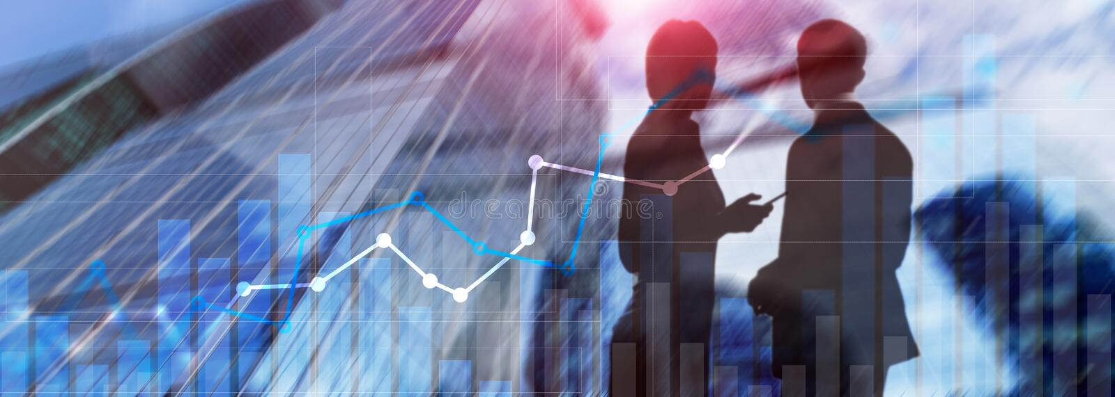 Financial growth graph.Sales increase, marketing strategy concept.  royalty free stock photos