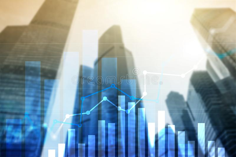 Financial growth graph.Sales increase, marketing strategy concept.  stock images