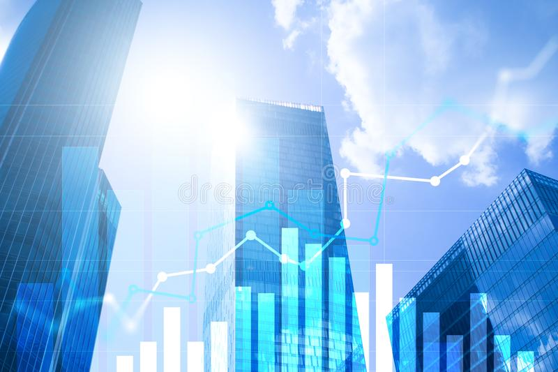 Financial growth graph.Sales increase, marketing strategy concept.  stock photos