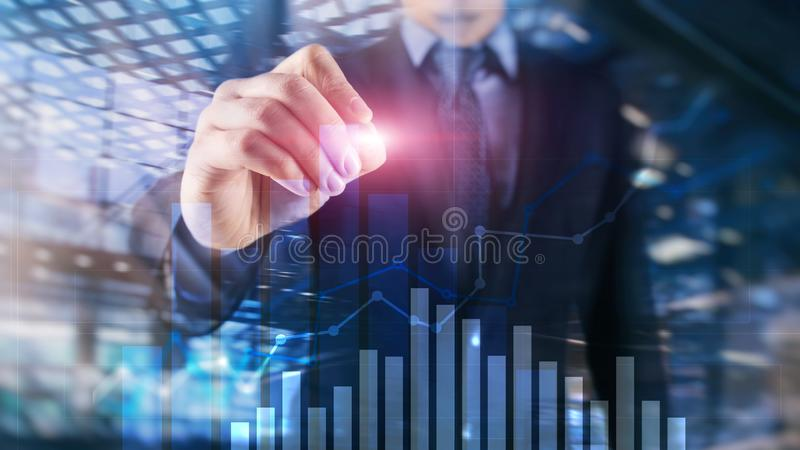 Financial growth graph..Sales increase marketing strategy concept. people stock photos