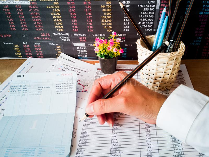 Financial growth and investor planning concepts. Financial growth and investment profits with the concept of investor planning royalty free stock image