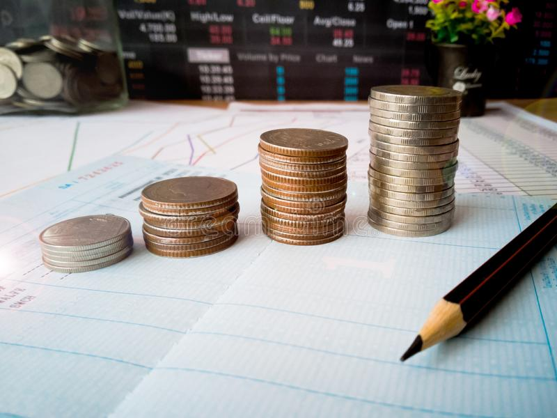 Financial growth and investor planning concepts stock photos