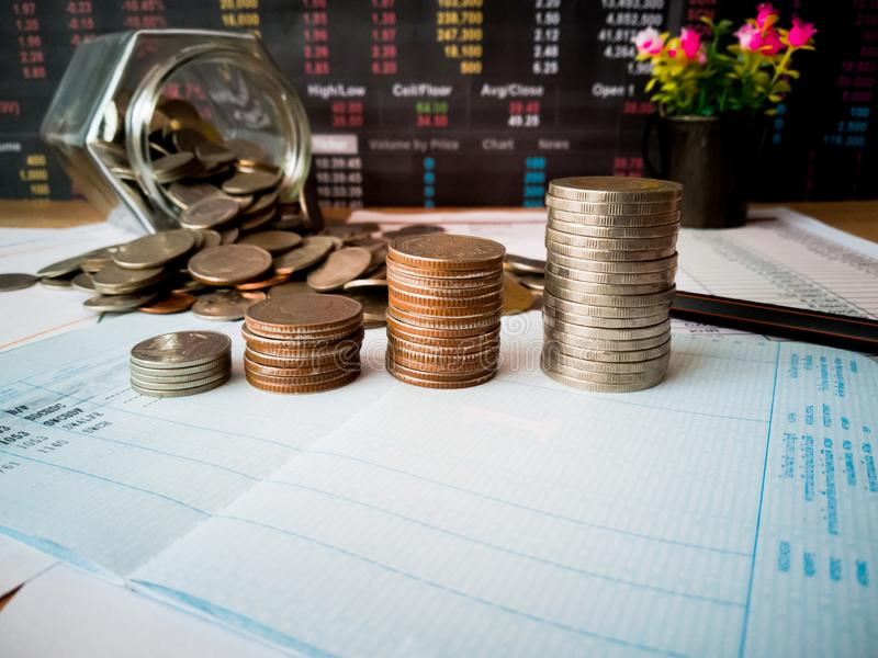 Financial growth and investment profits with financial concepts. Financial growth and investment profits with the concept of investor planning stock photography
