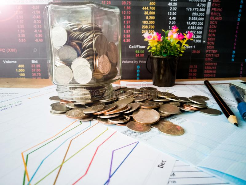 Financial growth and investment profits with financial concepts. Financial growth and investment profits with the concept of investor planning stock photo