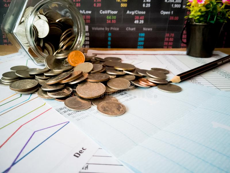 Financial growth and investor planning concepts stock image