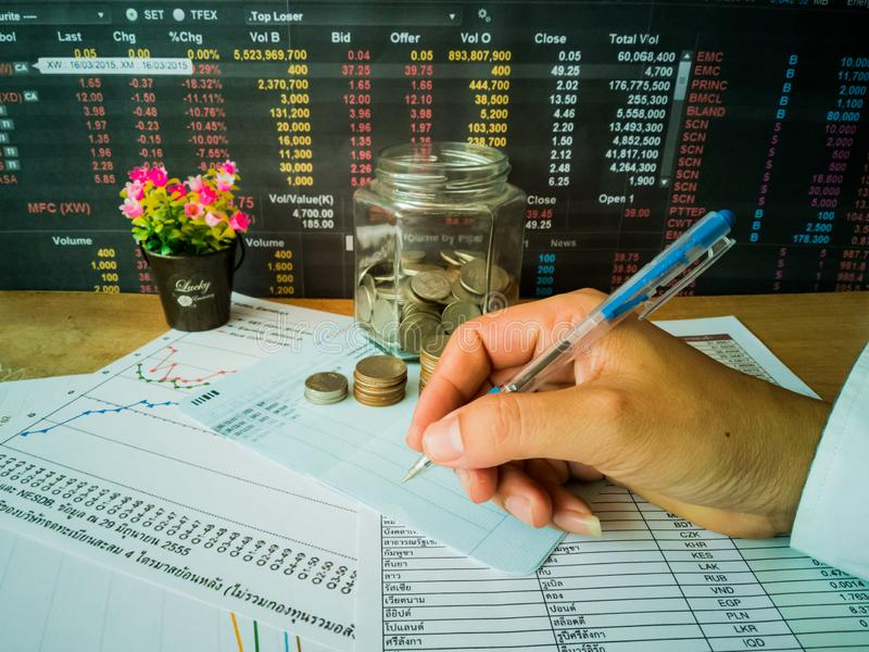 Financial growth and investor planning concepts stock images