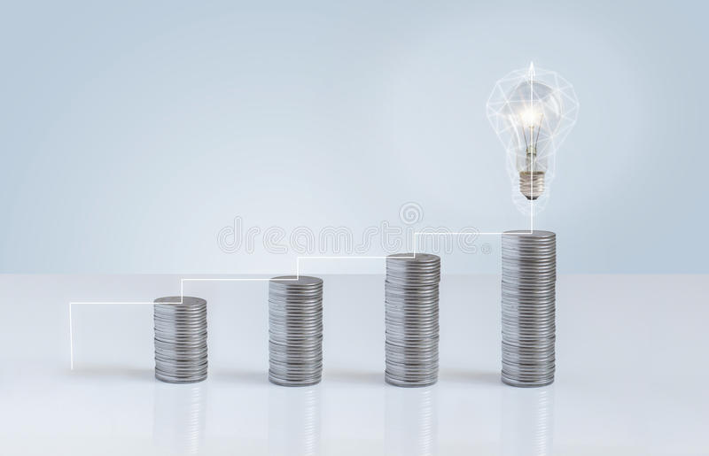 Financial growth leads to the emergence of ideas. stock photos