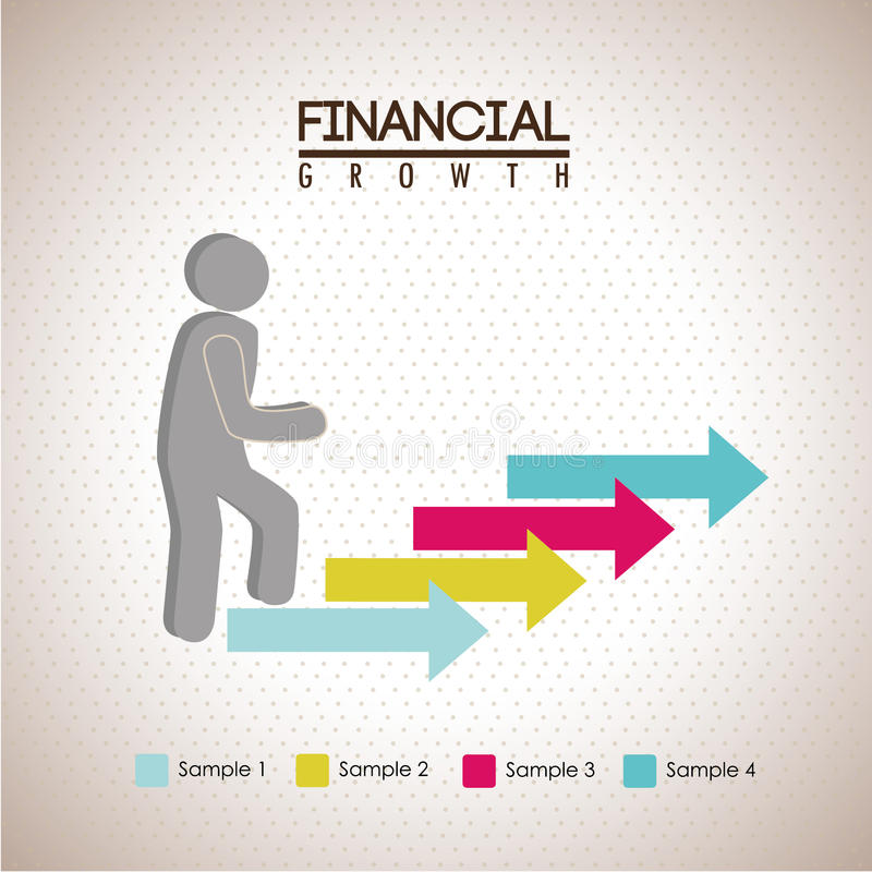 Financial growth. Over dotted background vector illustration stock illustration
