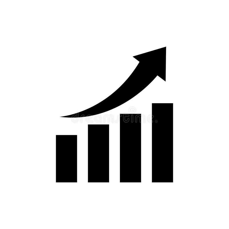 Financial growth symbol. Icon illustration graphic design vector illustration