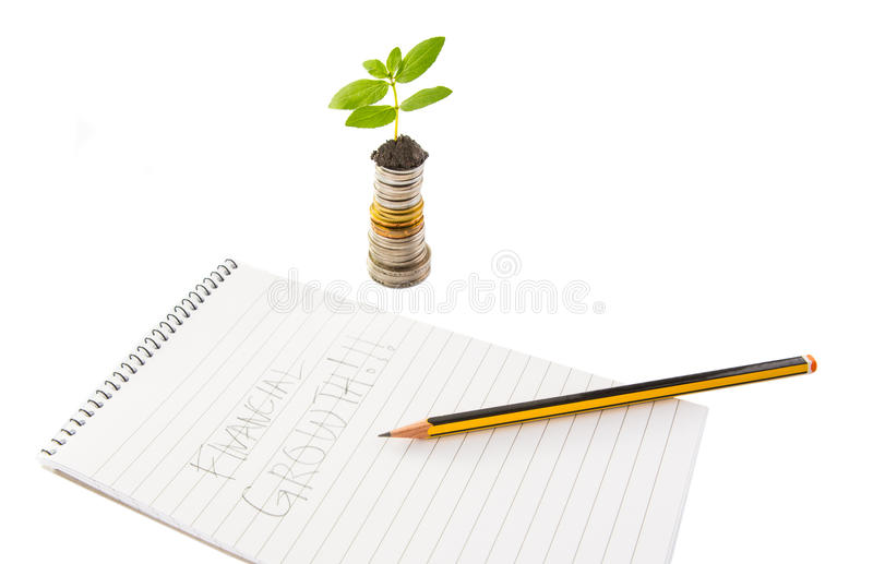 Financial Growth VII. Concept image of financial growth royalty free stock photos