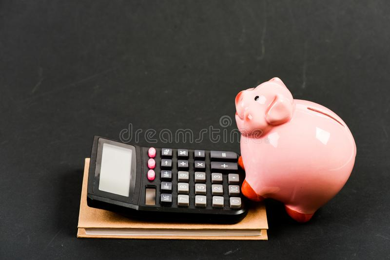 Financial help services. Financial support consulting. Courses financial literacy. Financial report. Piggy bank money. Savings. Building managing and preserving royalty free stock image
