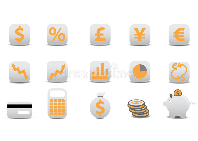 Download Financial icons stock vector. Illustration of bank, finance - 7480164