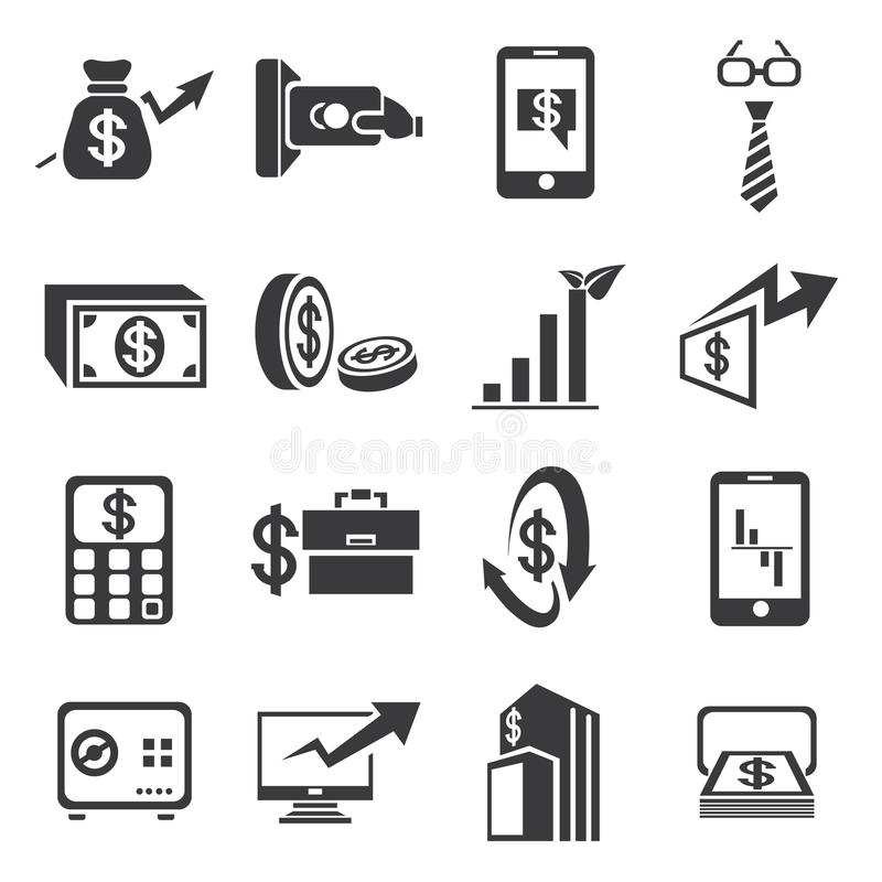 Finance Icon Set: Financial Icons Stock Images