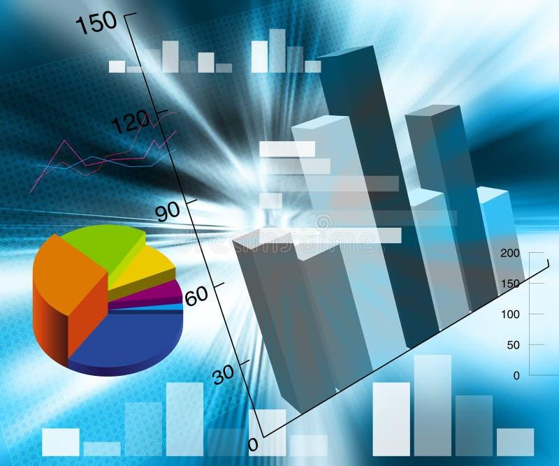 Financial illustration. An abstract financial chart illustration