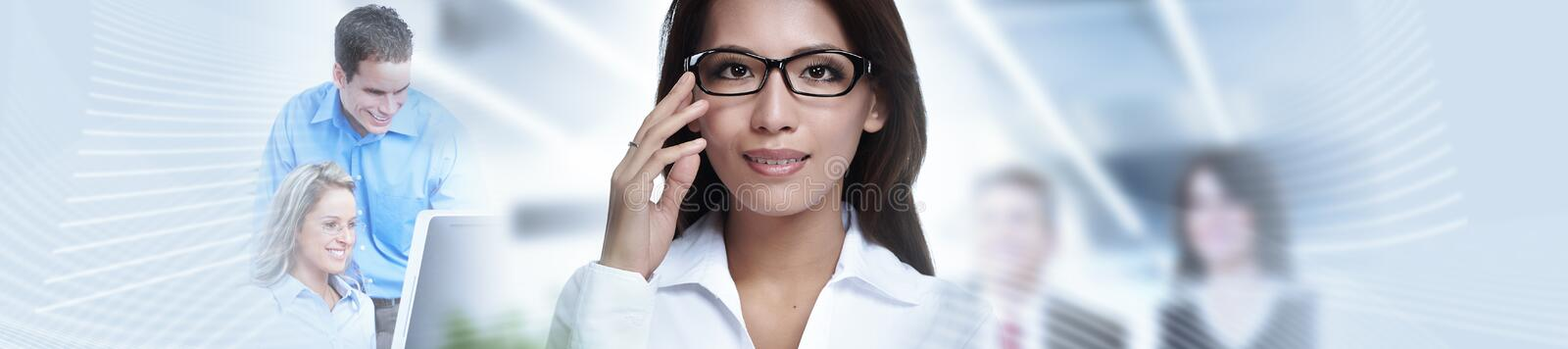 Chinese business woman. Financial investor women on stock market abstract background royalty free stock photo
