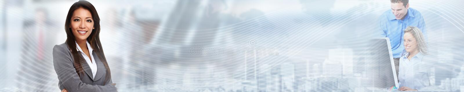 Chinese business woman royalty free stock photography