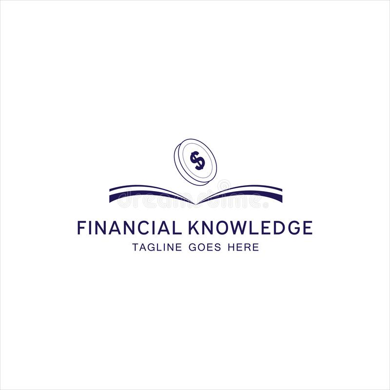 Financial Knowledge Logo for your company. Financial Knowledge Logo for your best company royalty free illustration