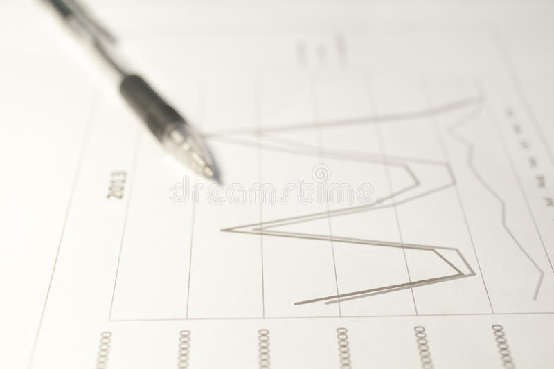 Line Chart Stock Image