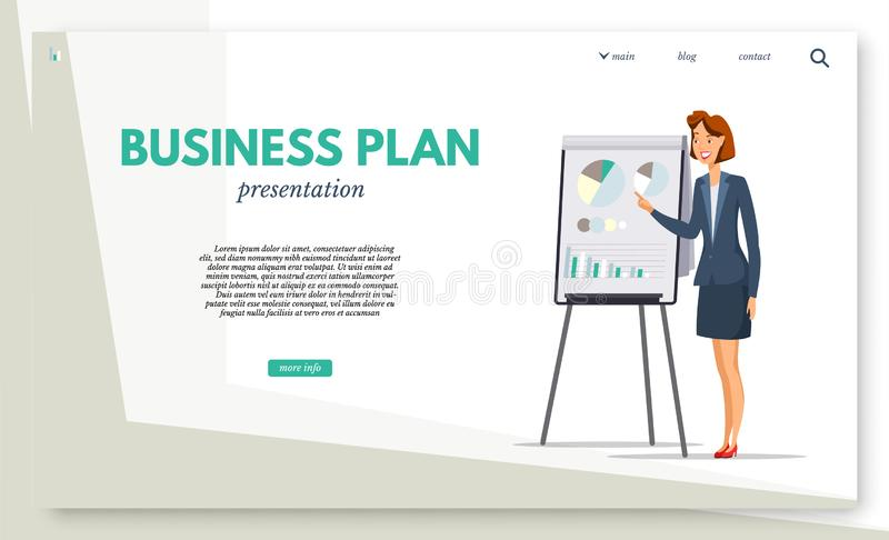 Financial literacy courses landing page template stock illustration