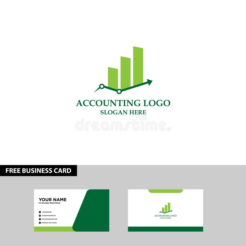 Financial Logo Template, Accounting Logo Template, Free Business Card stock images