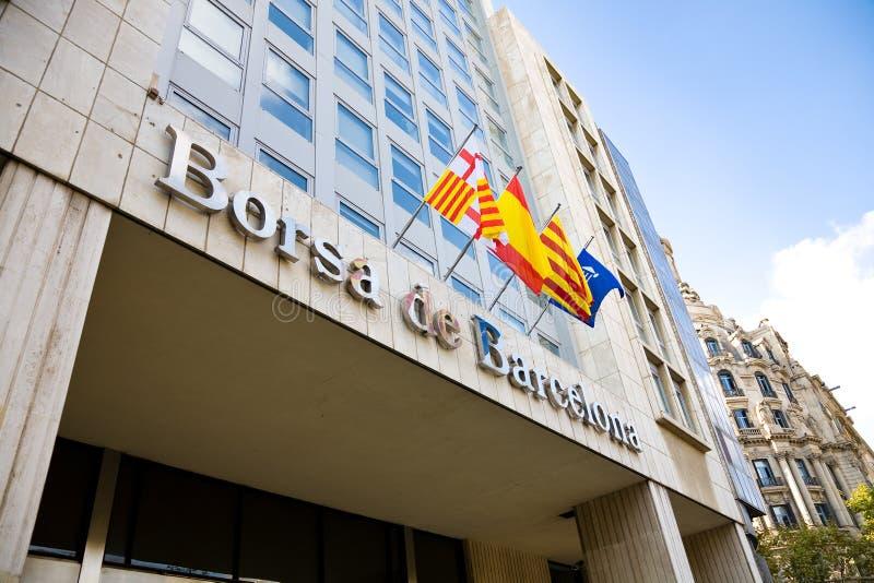 Financial market, Barcelona stock image