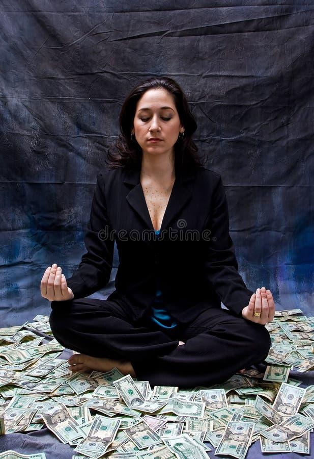 Financial meditation royalty free stock photo