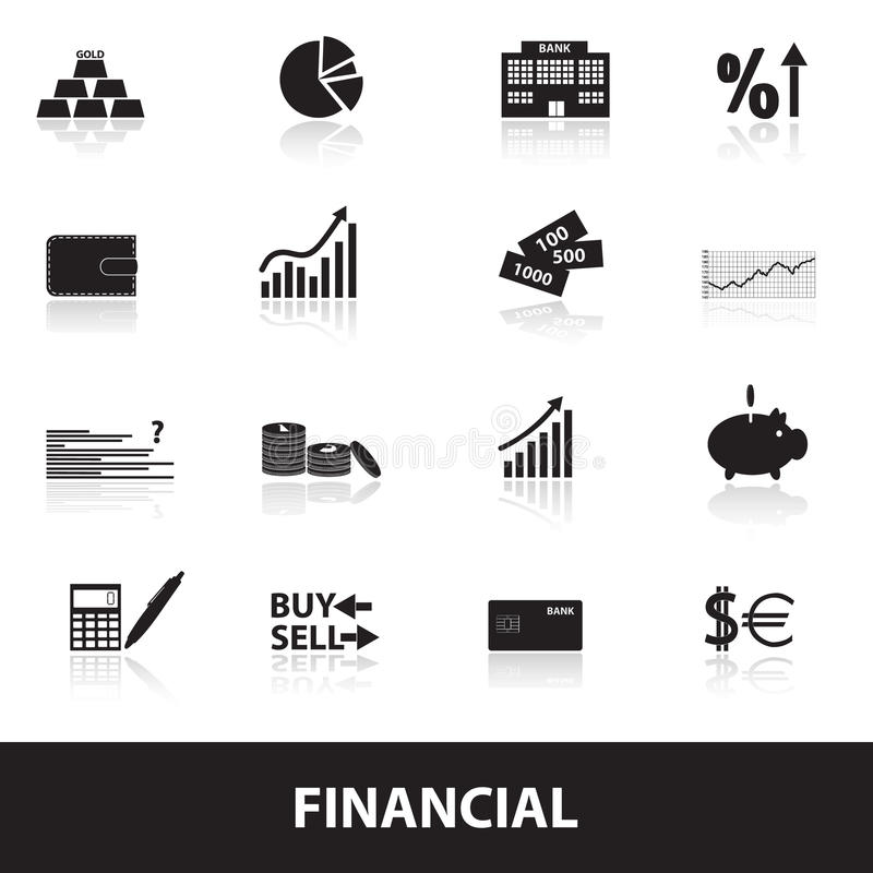 Financial and money icons eps10 royalty free illustration