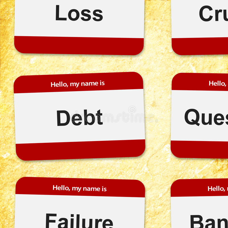 Financial name tags royalty free illustration