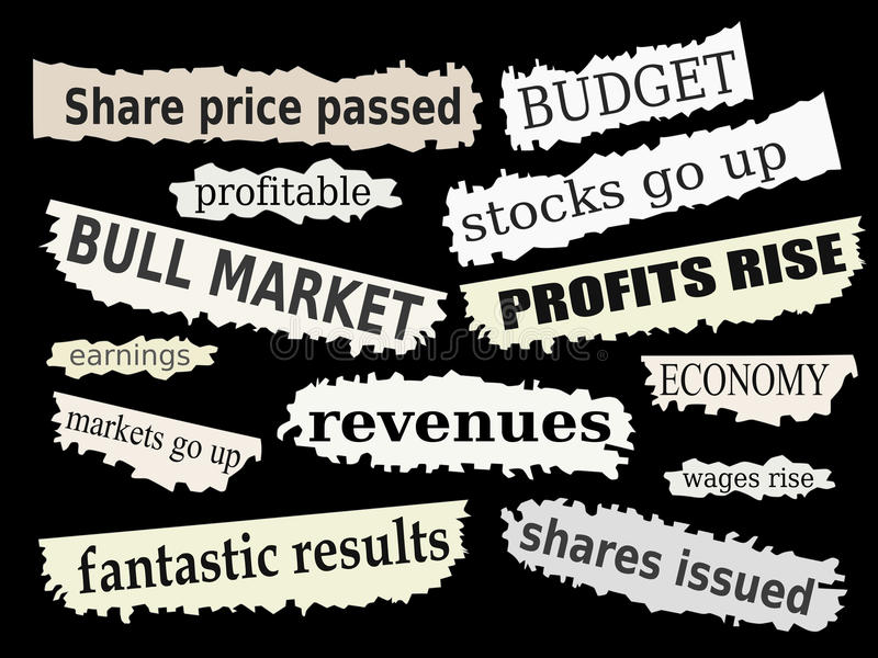 Download Financial news stock vector. Illustration of headlines - 19409337