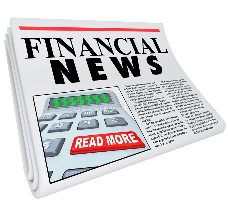 Financial News Finance Reporting Newspaper Advice. The headline Financial News on a newspaper offering reporting and journalism on finance and economic matters vector illustration