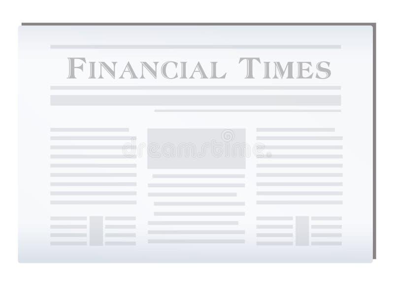 Financial Newspaper. Cartoon vector illustration of a financial Newspaper vector illustration