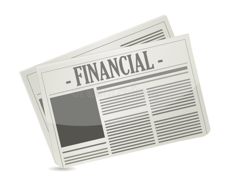 Financial newspaper. Illustration design over a white background stock illustration