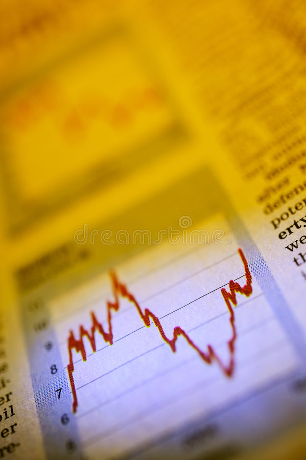 Financial newspaper royalty free stock photo