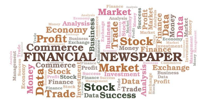 Financial Newspaper word cloud. Financial Newspaper word cloud, wordcloud made with text only royalty free illustration