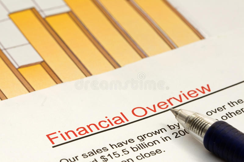 Financial Overview stock photography
