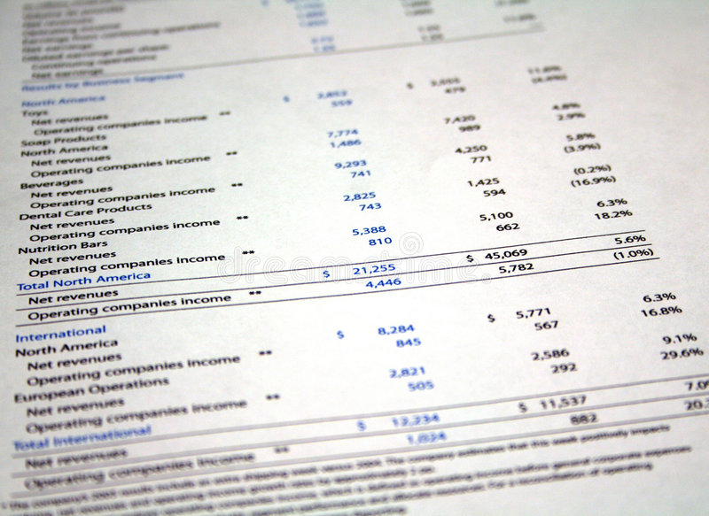 Financial Paperwork royalty free stock photography