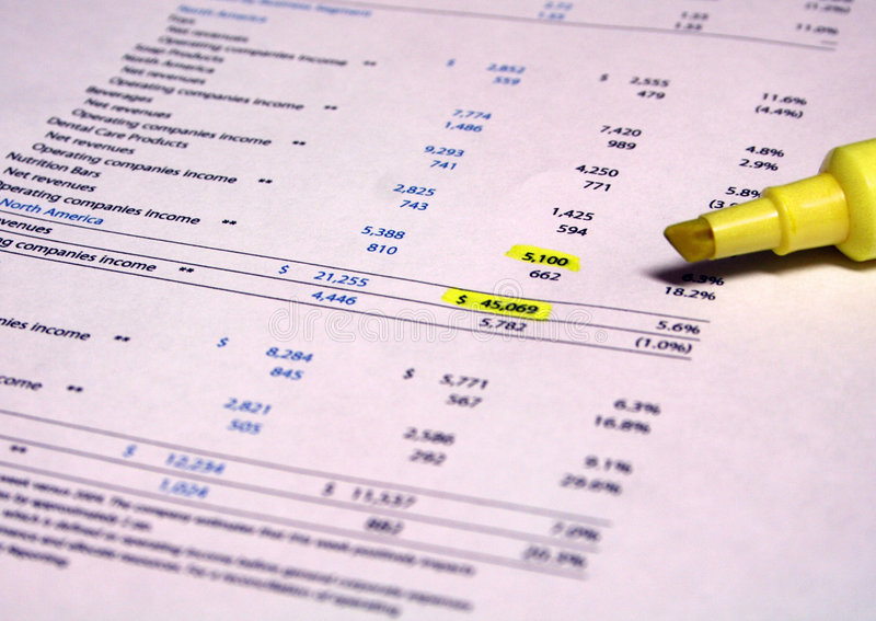 Financial Paperwork stock images