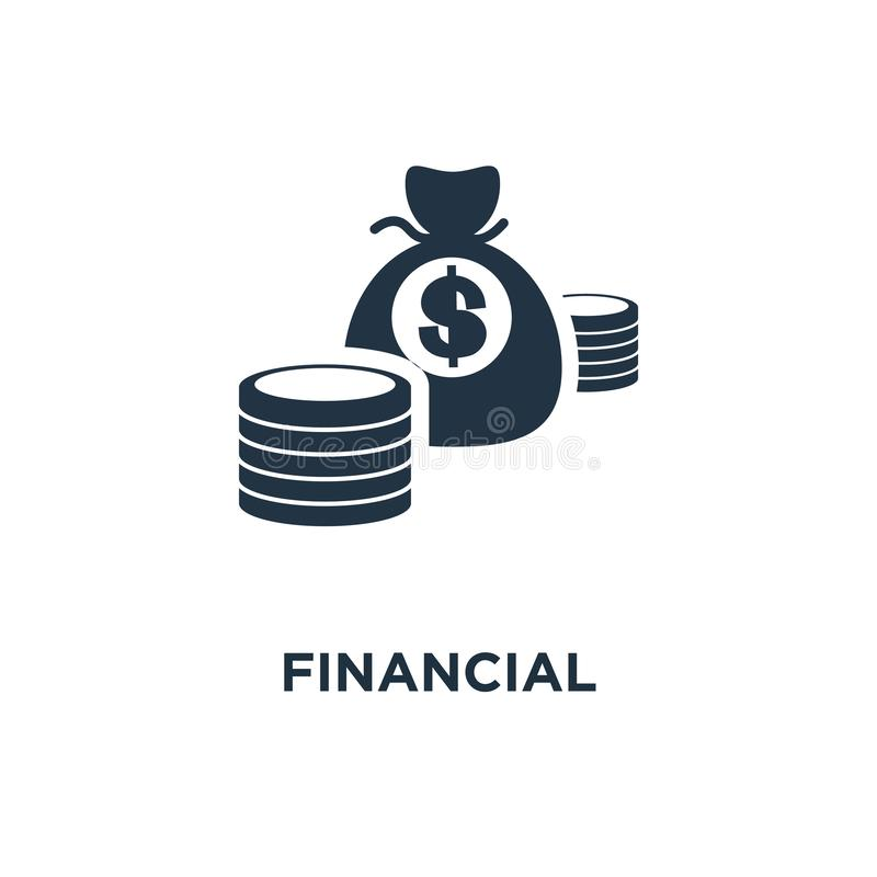 Financial performance icon. statistic report, budget planning, income growth concept symbol design, boost business productivity,. Mutual fund, return on royalty free illustration